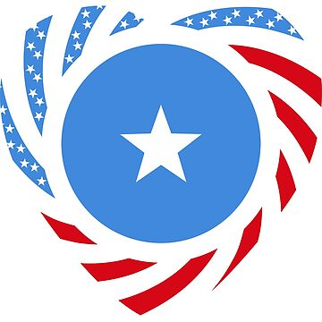 Somalian American Multinational Patriot Flag Series by carbonfibreme