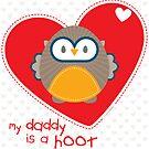 OWL SERIES :: heart - daddy is a hoot 1 by Kat Massard