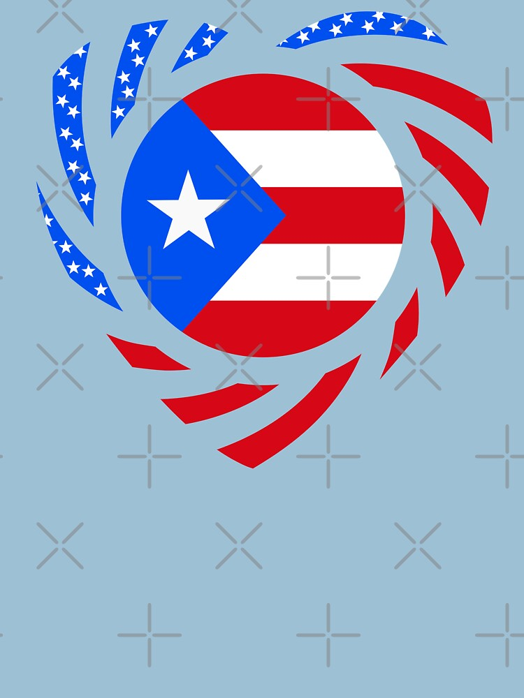 Puerto Rican American Multinational Patriot Flag Series 2.0 by carbonfibreme