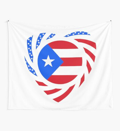 Puerto Rican American Multinational Patriot Flag Series 2.0 Wall Tapestry