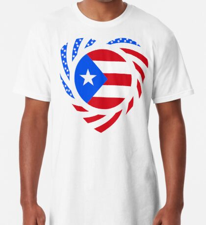 Puerto Rican American Multinational Patriot Flag Series 2.0 Long T-Shirt