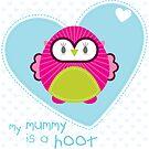 OWL SERIES :: heart - mummy is a hoot 4 by Kat Massard