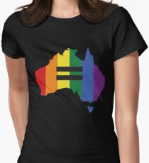 LGBT equality Australia Women's Fitted T-Shirt