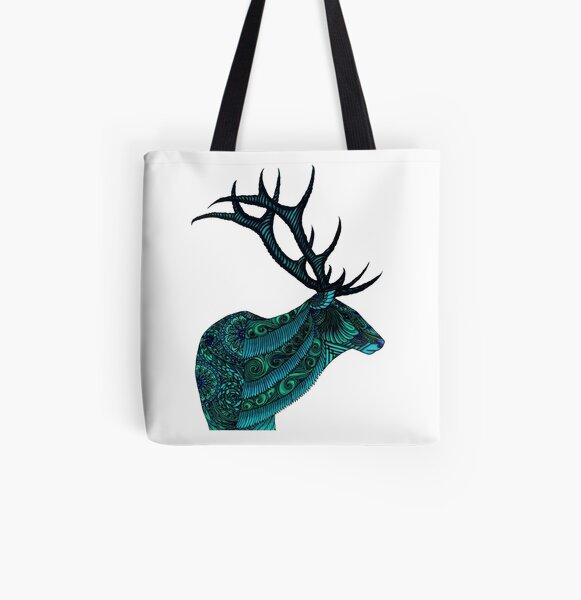 Elk All Over Print Tote Bag