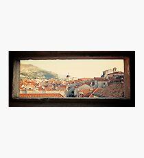 Dubrovnik window Photographic Print