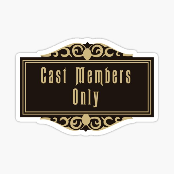 Haunted Mansion Cast Members Only Sticker