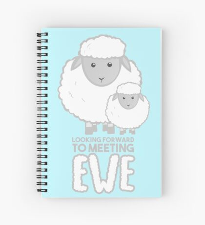 Fathers Day- Sheep - Looking forward to meeting you - Baby Sheep Shirt Spiral Notebook