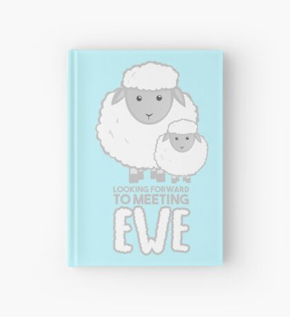 Fathers Day- Sheep - Looking forward to meeting you - Baby Sheep Shirt Hardcover Journal