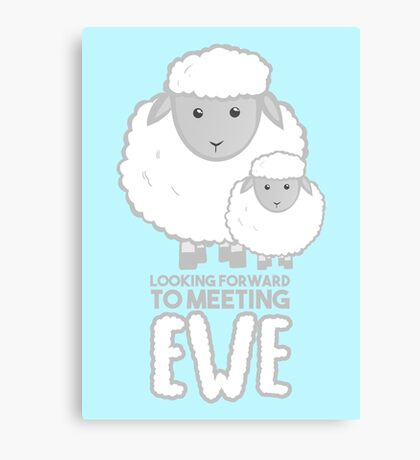 Fathers Day- Sheep - Looking forward to meeting you - Baby Sheep Shirt Canvas Print