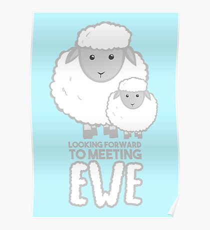 Fathers Day- Sheep - Looking forward to meeting you - Baby Sheep Shirt Poster
