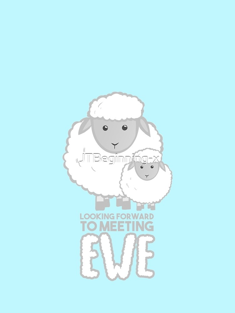 Fathers Day- Sheep - Looking forward to meeting you - Baby Sheep Shirt by JTBeginning-x
