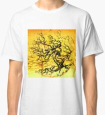 Old and Ancient Tree - Yellow  Classic T-Shirt