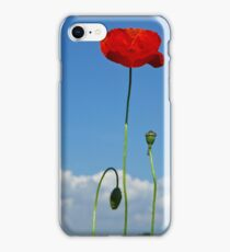 Red Poppy - Mohnblume 4 iPhone Case/Skin