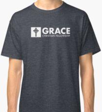 Grace Christian Fellowship Church Logo, White Banner Classic T-Shirt