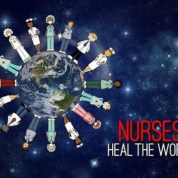 Nurses Heal the World Nurses Day by SalonOfArt
