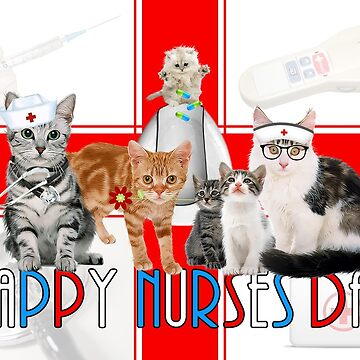 Funny Cat Lover Nurses Day by SalonOfArt