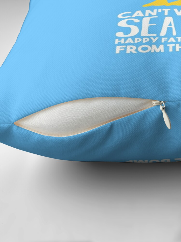 Alternate view of Fathers Day - SeaGull - From The Bump Card - Funny Throw Pillow