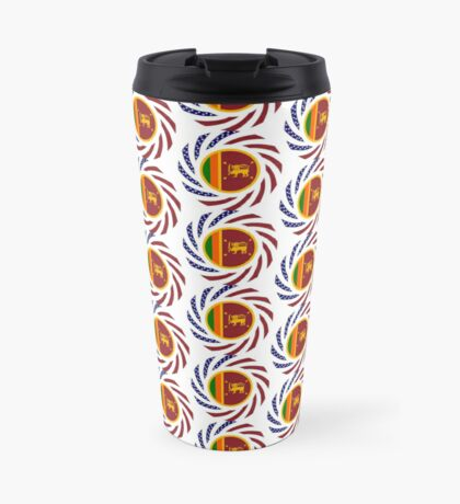Sri Lankan American Multinational Patriot Flag Series Travel Mug