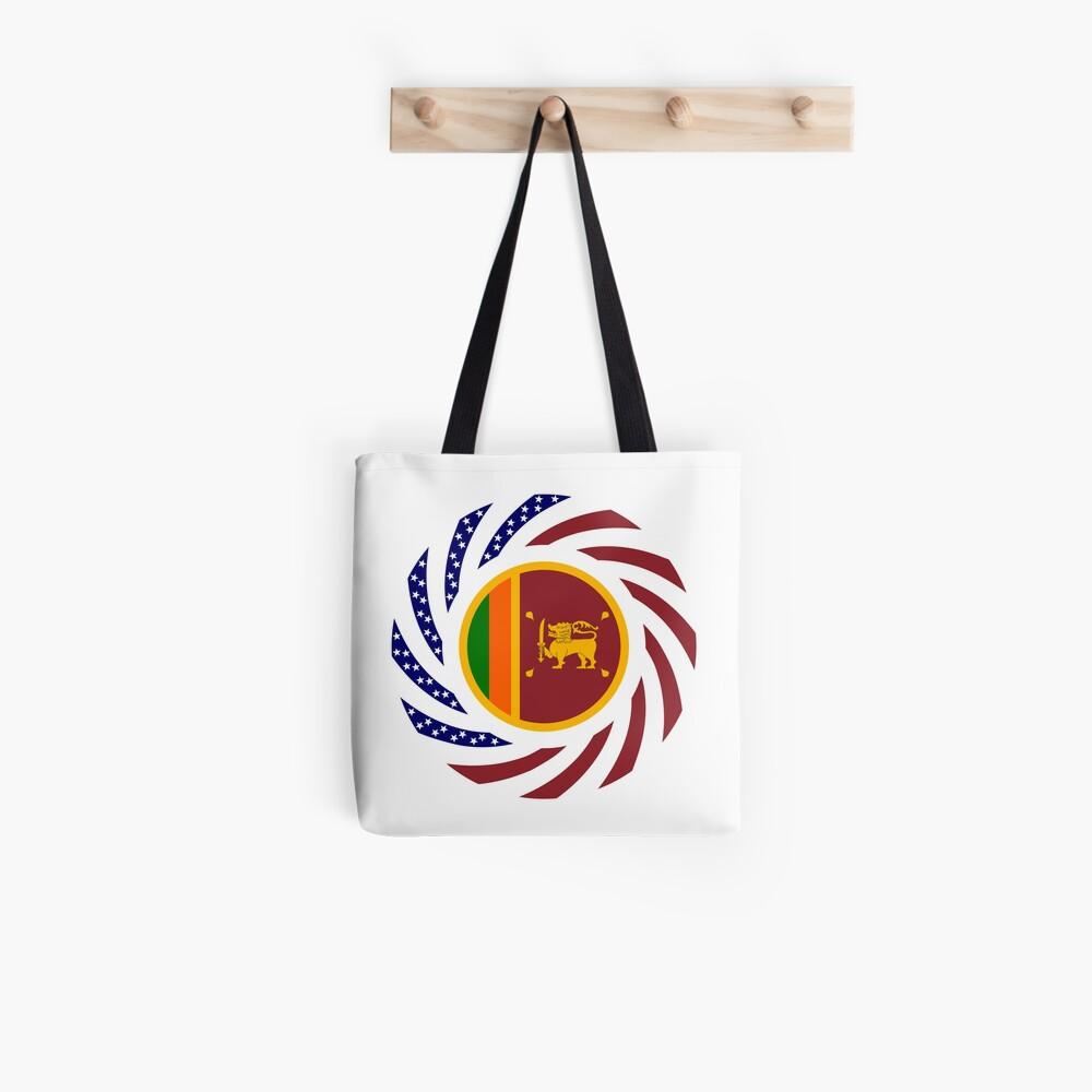 Sri Lankan American Multinational Patriot Flag Series Tote Bag