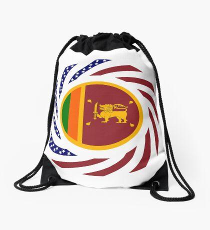 Sri Lankan American Multinational Patriot Flag Series Drawstring Bag
