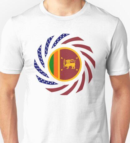 Sri Lankan American Multinational Patriot Flag Series T-Shirt