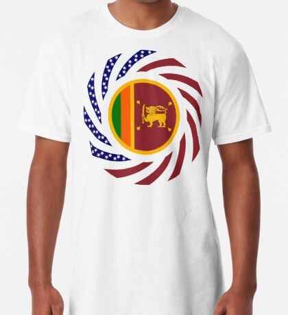 Sri Lankan American Multinational Patriot Flag Series Long T-Shirt