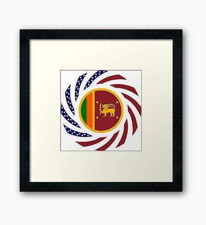 Sri Lankan American Multinational Patriot Flag Series Framed Print