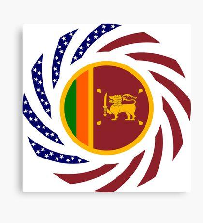 Sri Lankan American Multinational Patriot Flag Series Canvas Print