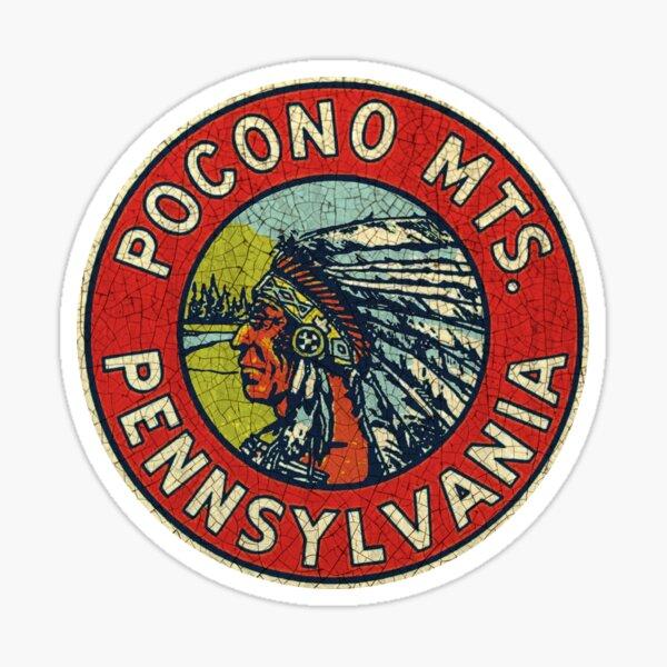 Pocono Mountains Vintage Souvenir Sticker