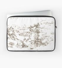 Illustration, art, paper, painting, etching, ancient, antique, engraving Laptop Sleeve