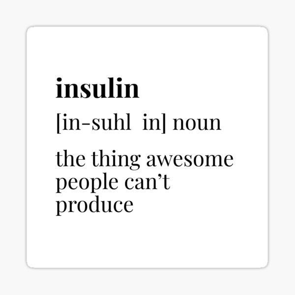 Définition de l'insuline Sticker