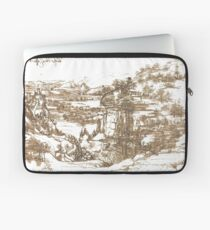 #illustration, #art, #paper, #painting, etching, ancient, antique, engraving, old Laptop Sleeve