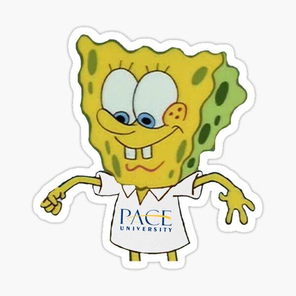 pace university spongebob  Sticker
