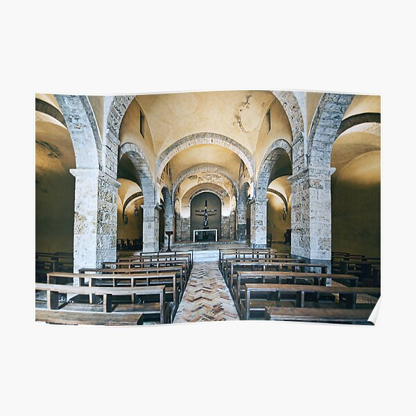 800 Year Old Chapel in Anagni Italy Full View Poster