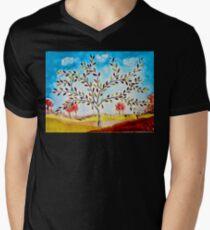 Autumn tree Mens V-Neck T-Shirt