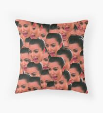 Kim Pack of Stickers Throw Pillow