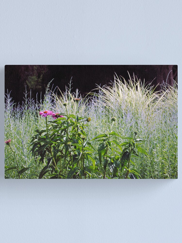 Alternate view of Purple and Silver Garden Canvas Print