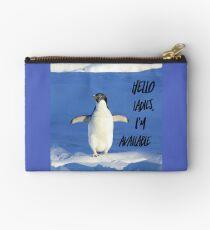 Hello Ladies I'm Available, penguin t-shirt Zipper Pouch