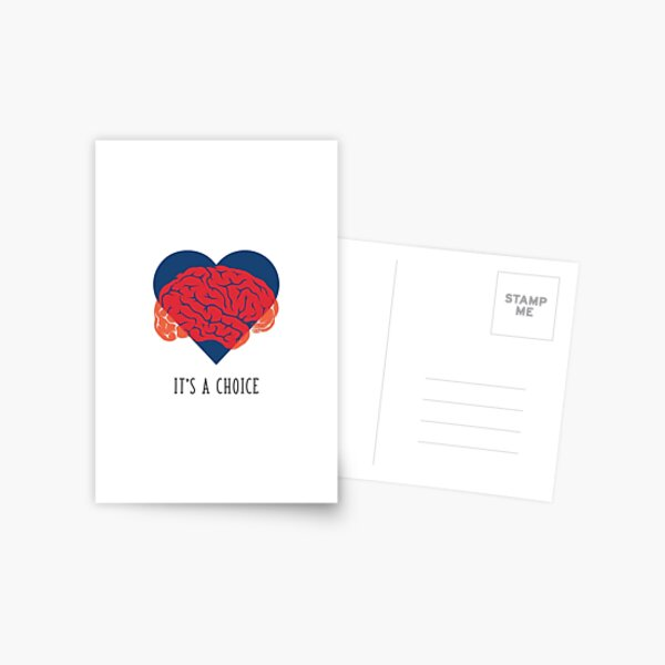 Heart and Brain Postcard