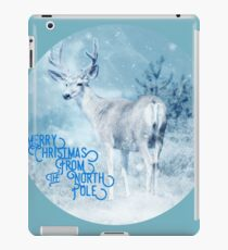 Merry Christmas From the North Pole, deer t-shirt iPad Case/Skin