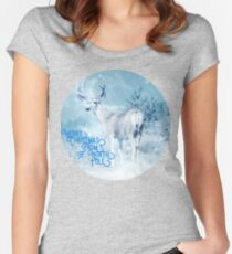 Merry Christmas From the North Pole, deer t-shirt Fitted Scoop T-Shirt