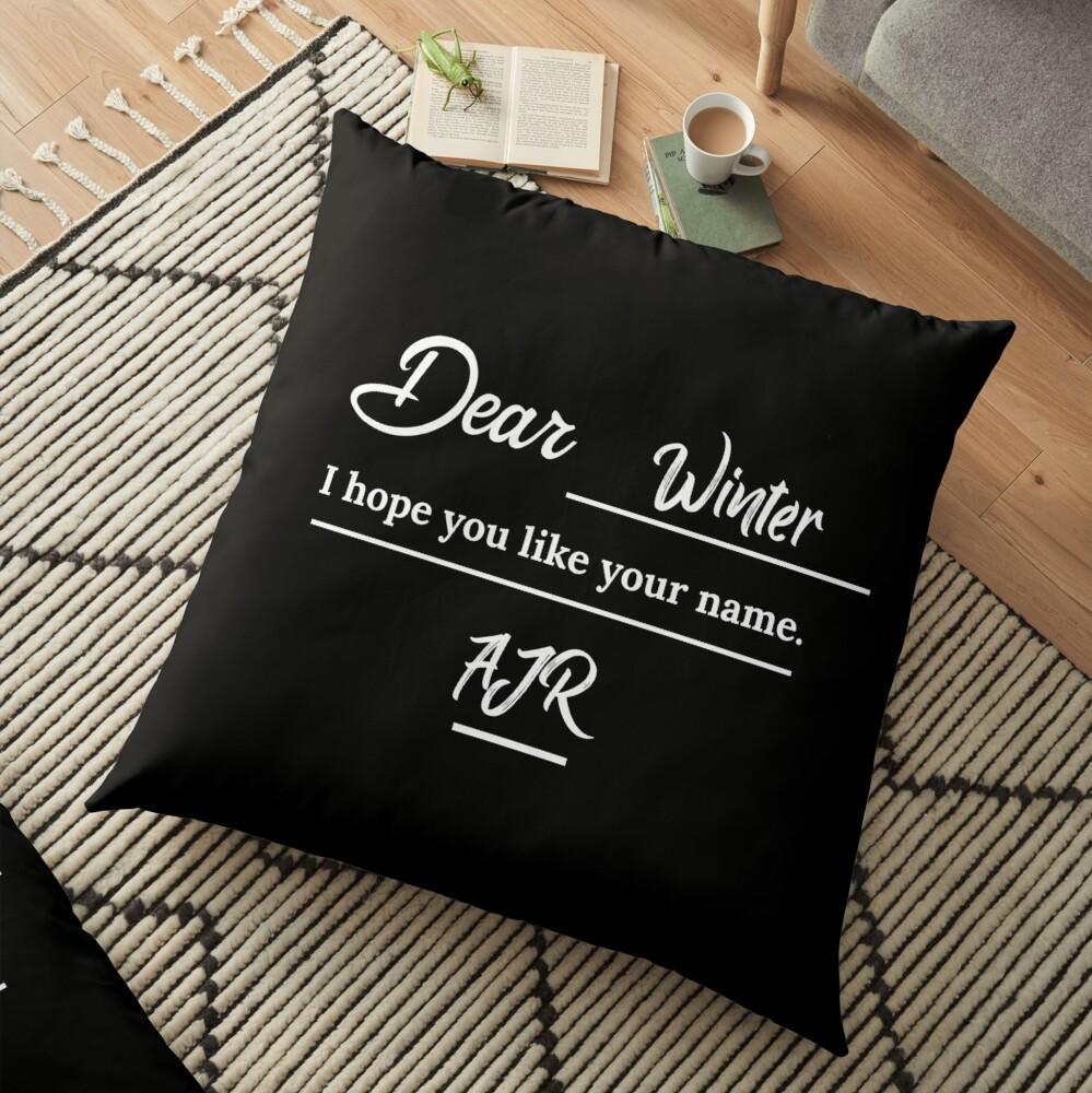 Ajr Dear Winter Letter Floor Pillow By Usernate Redbubble Get access to pro version of dear winter! ajr dear winter letter floor pillow by usernate redbubble