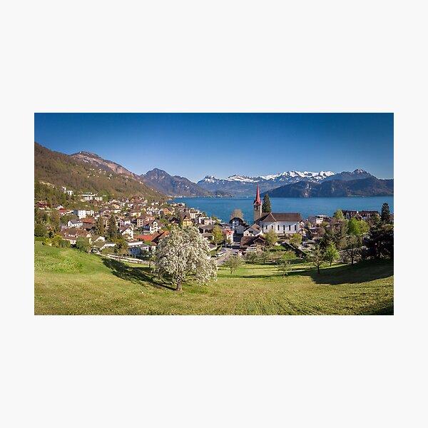 Lake Lucerne at Weggis, Switzerland Photographic Print