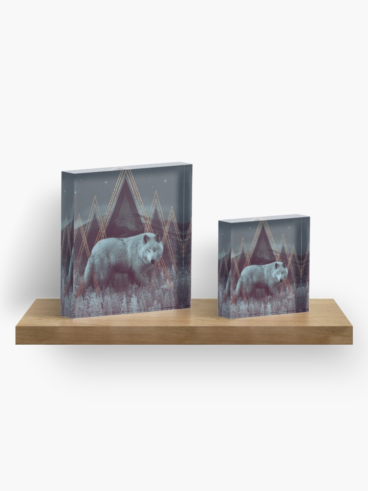 Alternate view of In Wildness   Wolf Acrylic Block