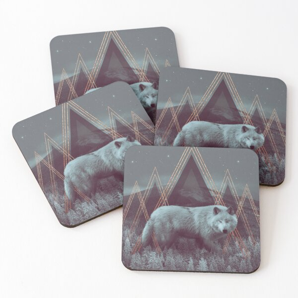 In Wildness   Wolf Coasters (Set of 4)