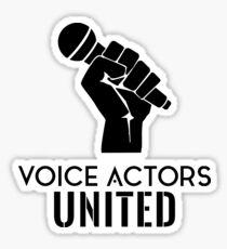 Voice Actors Stickers | Redbubble