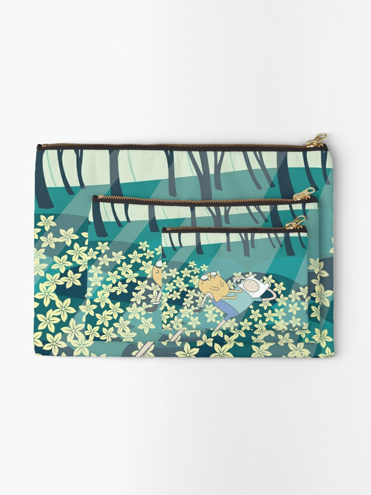 Alternate view of Field of Flowers (Adventure Time) Zipper Pouch