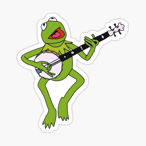 Kermit banjo  Sticker