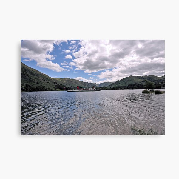 Lake Ullswater and Paddle Steamer 0001 Canvas Print