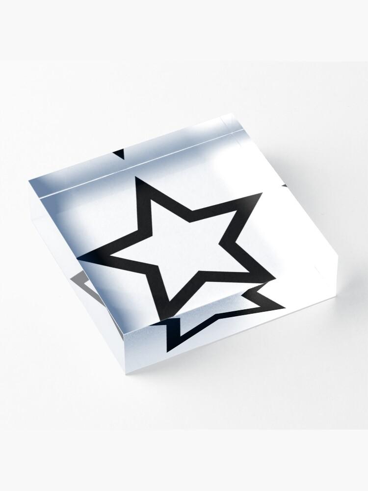 Alternate view of #Star #Symbol  #Sign Acrylic Block